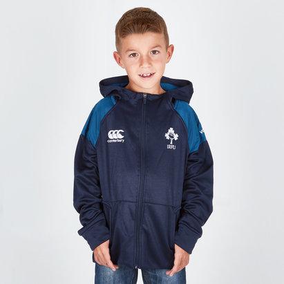Irlanda IRFU 2018/19 Niños Hybrid Full Zip Rugby - Sudadera con Capucha