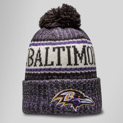 NFL Baltimore Ravens Sideline Bobble Gorro Tejido