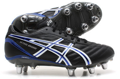 Asics Zapatos de rugby/ Lethal Negros Charge SG Negros Blancos/ Blancos/ Azules non a6581df - sbsgrp.website