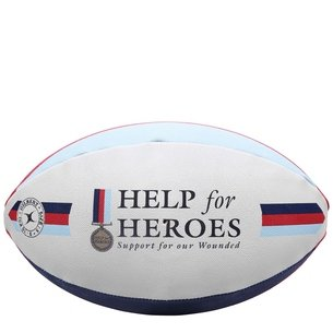 Balón de rugby para aficionados Help For Heroes de Gilbert tamaño 5