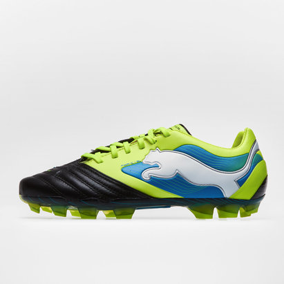 Puma PowerCat 1 SL FG Football Boots Black/Fluo Yellow/Brilliant Blue
