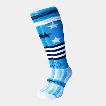 Wacky Sox Wackysox Blood Sweat & Beers Rugby Socks Blue