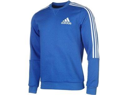 adidas 3 Stripes Crew Sweatshirt Mens