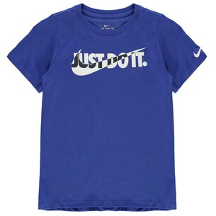 Nike Blocked Swoosh QTT T Shirt Junior Boys