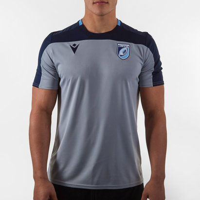 Macron Cardiff Blues 2019/20 Players Poly Rugby Training T-Shirt