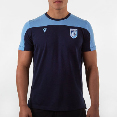 Macron Cardiff Blues 2019/20 Players Rugby Travel T-Shirt