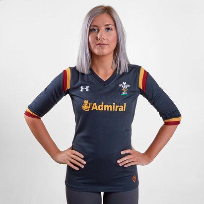 Under Armour Gales WRU 2016/17 Alternativa Mujer M/C - Camiseta de Rugby