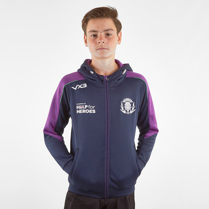 VX3 Help for Heroes Scotland 2019/20 Kids FZ Hooded Rugby Sweat