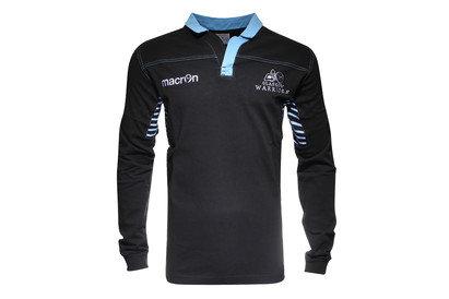 Macron Glasgow Warriors 2015 Home Algodón M/L Réplica - Camiseta de Rugby