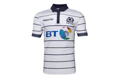 Macron Escocia 2016/17 Alternativa Niños M/C Réplica - Camiseta de Rugby