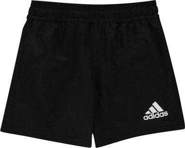 adidas 3 Stripe Rugby Shorts Junior