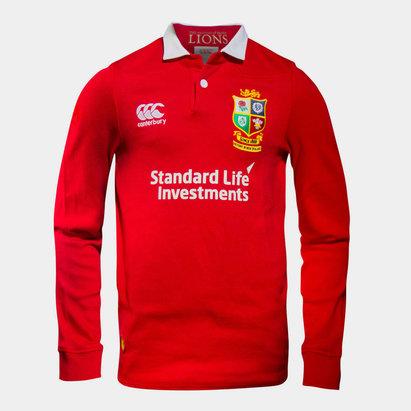 Canterbury British & Irish Lions 2017 Niños Match Day Clásica M/L Rugby - Camiseta