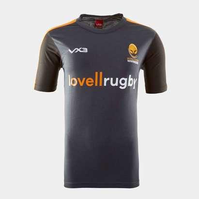 VX3 Worcester Warriors 19/20 Kids Cotton Rugby Training T-Shirt
