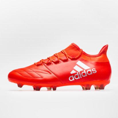 adidas X 16.2 FG/AG Piel - Botas de Fútbol
