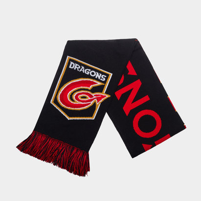 Dragons Duotone Supporters Rugby Scarf
