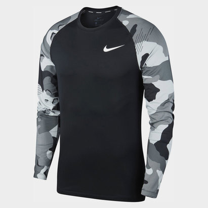 Nike Pro Camo Long Sleeve T-Shirt Mens