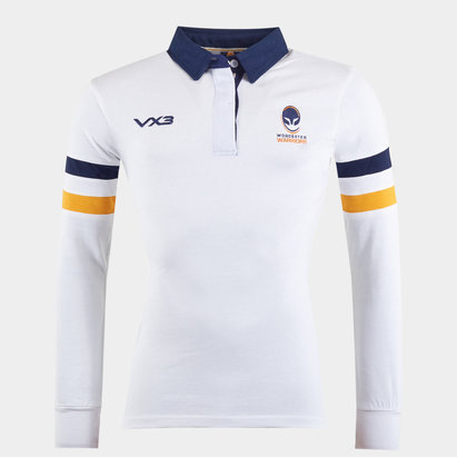 Worcester Warriors Ladies Cotton L/S Rugby Shirt