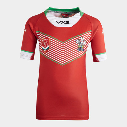 VX3 Wales Rugby League 2019/20 Kids Home S/S Shirt