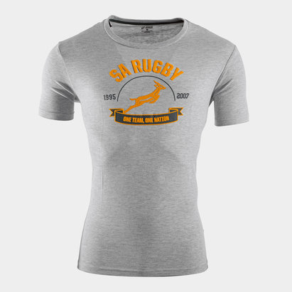 Asics South Africa Springboks 1 Nation Graphic Rugby T-Shirt
