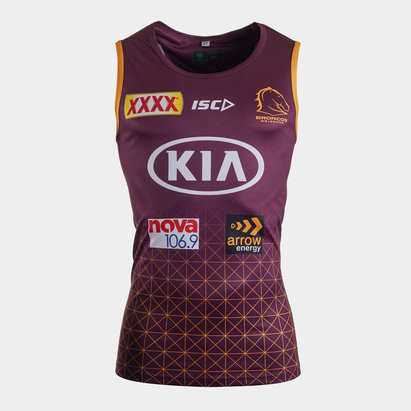 ISC Brisbane Broncos NRL 2020 Players Rugby Training Singlet