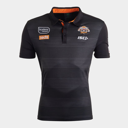 ISC Wests Tigers NRL 2020 Players Rugby Polo Shirt