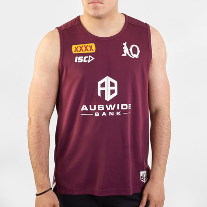 ISC Queensland Maroons NRL 2020 Players Rugby Training Singlet