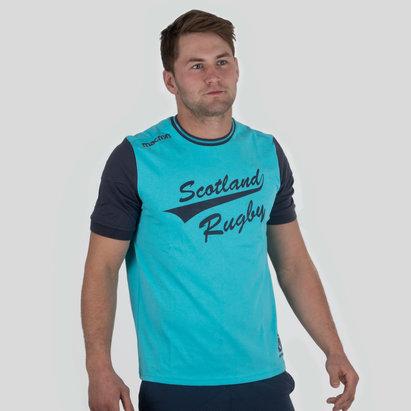 Macron Escocia 2017/18 Travel Leisure Polialgodón Rugby - Camiseta