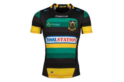 Macron Northampton Saints 2017/18 Home M/C Auténtica Test - Camiseta de Rugby
