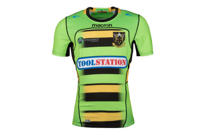 Macron Northampton Saints 2017/18 Alternativa M/C Auténtica Test - Camiseta de Rugby