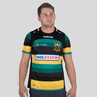 Macron Northampton Saints 2017/18 Home M/C Réplica - Camiseta de Rugby
