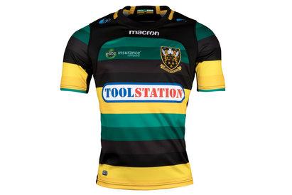 Macron Northampton Saints 2017/18 Home Niños M/C Réplica - Camiseta de Rugby