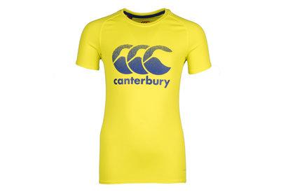 Canterbury Vapodri Niños Poly Logo Grande - Camiseta de Entrenamiento