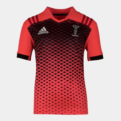 adidas Harlequins 2017/18 Niños M/C Rugby - Camiseta de Entrenamiento