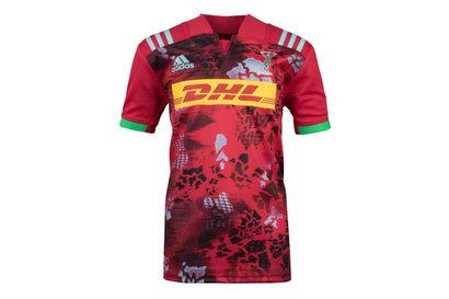 adidas Harlequins 2017/18 Niños Alternativa M/C Réplica - Camiseta de Rugby