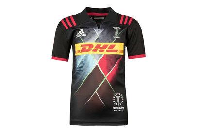 adidas Harlequins 2017/18 Niños 3a M/C Réplica - Camiseta de Rugby