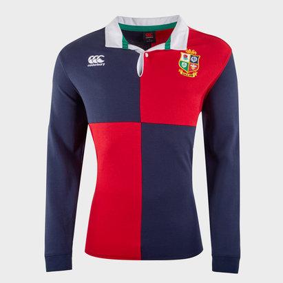 Canterbury British and Irish Lions Long Sleeve Rugby Shirt Mens
