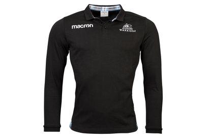Macron Glasgow Warriors 2017/18 Home Algodón M/L Clásica - Camiseta de Rugby