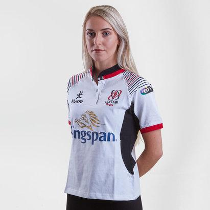 Kukri Ulster 2017/18 Mujer Home M/C Algodón Réplica - Camiseta de Rugby