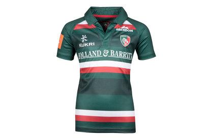 Kukri Leicester Tigers 2017/18 Niños Home M/C Réplica - Camiseta de Rugby