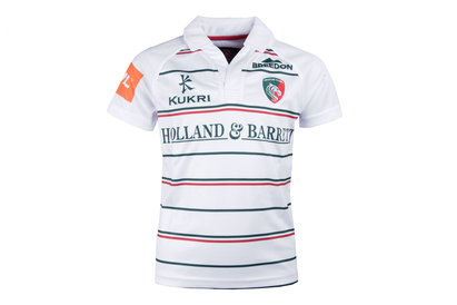 Kukri Leicester Tigers 2017/18 Niños Alternativa M/C Réplica - Camiseta de Rugby
