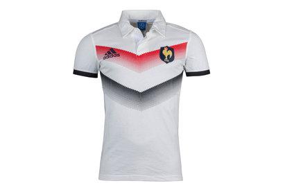 adidas Francia 2017/18 Alternativa Seguidores M/C - Camiseta de Rugby
