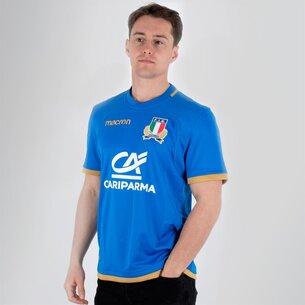 Macron Italia 2017/18 Home M/C Réplica - Camiseta de Rugby