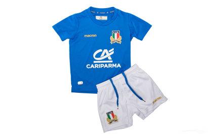 Macron Italia 2017/18 Home Mini Niños Réplica - Equipación de Rugby