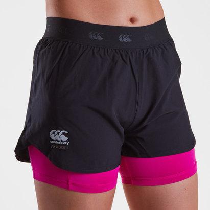 Canterbury Vapodri 2 en 1 Mujer - Shorts de Entrenamiento