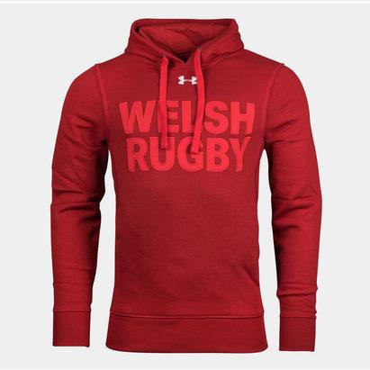 Under Armour Gales WRU 2017/19 Gráfica Rugby - Sudadera con Capucha