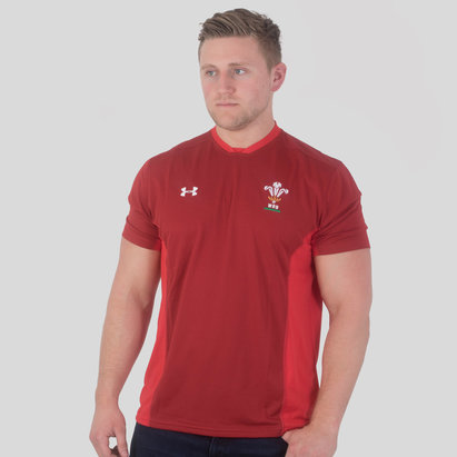 Under Armour Gales WRU 2017/19 Players Rugby - Camiseta de Entrenamiento