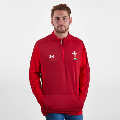 Under Armour Gales WRU 2017/19 Players 1/4 Zip Rugby - Camiseta de Entrenamiento