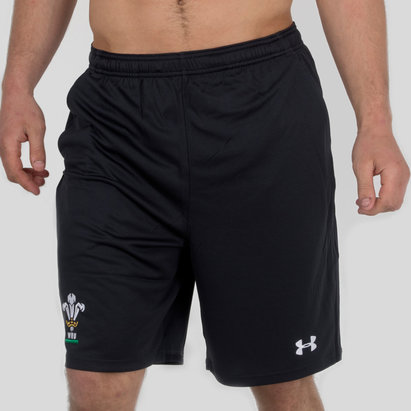 Under Armour Gales WRU 2017/19 Players 9 Inch Rugby - Shorts de Entrenamiento