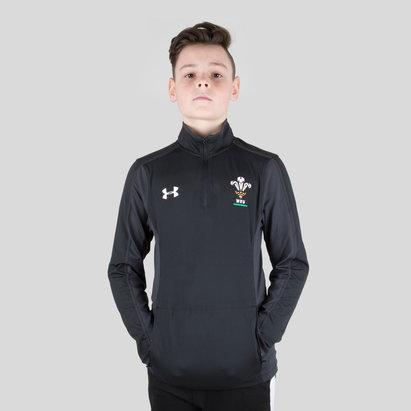 Under Armour Gales WRU 2017/19 Niños 1/4 Zip Rugby - Top de Entrenamiento