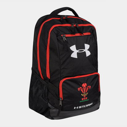 Under Armour Gales WRU 2017/19 Players Hustle Rugby - Mochila